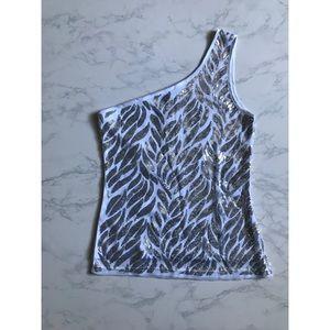 One Shoulder Sequin Top ✨